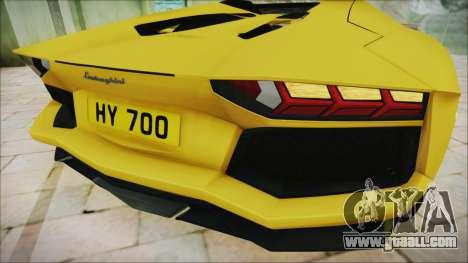 Lamborghini Aventador LP700-4 Roadster 2013 for GTA San Andreas back view