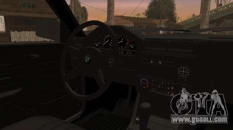BMW M3 E30 Sedan for GTA San Andreas back view