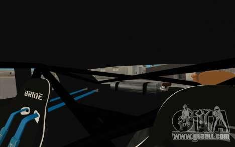 Elegy DRIFT KING GT-1 (Stok wheels) for GTA San Andreas interior