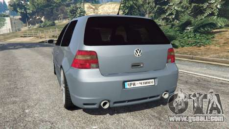 GTA 5 Volkswagen Golf Mk4 R32 rear left side view