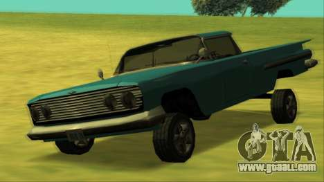 Voodoo El Camino v1 for GTA San Andreas upper view