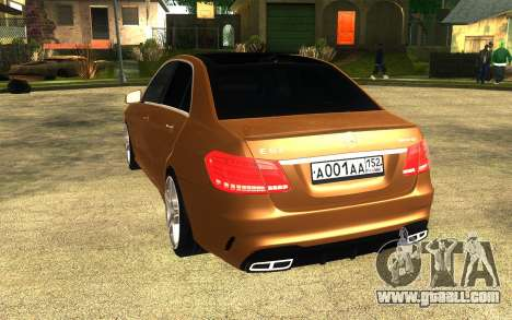 Mercedes Benz E63 AMG for GTA San Andreas left view