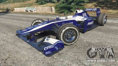 GTA 5 Williams FW32 right side view