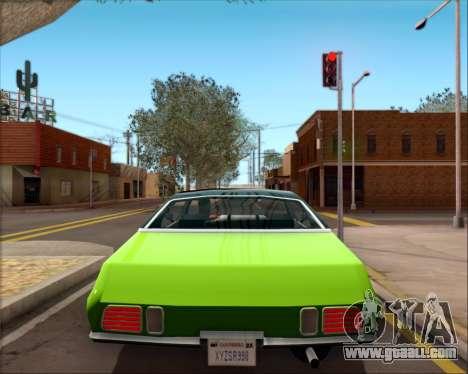 Clover Barracuda for GTA San Andreas inner view