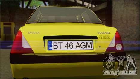 Dacia Solenza Taxi for GTA San Andreas back view