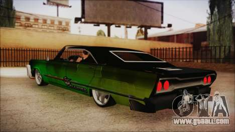 Savanna Ganstar Lowrider for GTA San Andreas left view