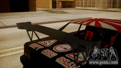 Sultan Full of Stickers for GTA San Andreas right view