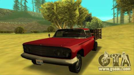 Voodoo El Camino v2 (Truck) for GTA San Andreas left view