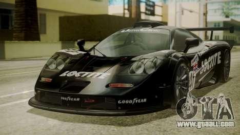 McLaren F1 GTR 1998 Loctite for GTA San Andreas