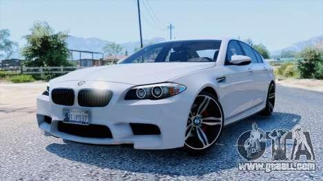 GTA 5 BMW M5 F10 2012 rear right side view