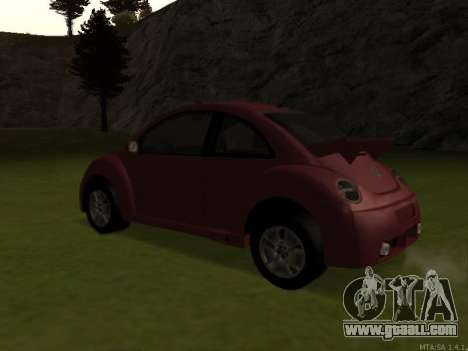 VW New Beetle 2004 Tunable for GTA San Andreas back left view