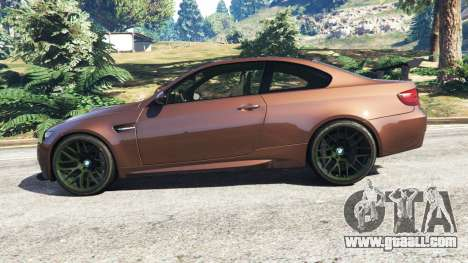GTA 5 BMW M3 (E92) GTS v0.1 left side view