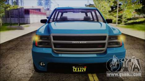 GTA 5 Declasse Granger FIB SUV IVF for GTA San Andreas right view