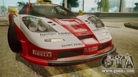 McLaren F1 GTR 1998 Lemans McLaren for GTA San Andreas inner view