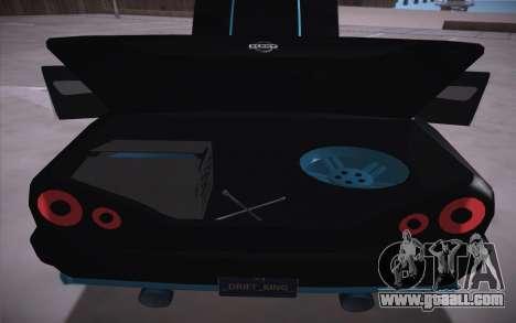 Elegy DRIFT KING GT-1 (Stok wheels) for GTA San Andreas inner view
