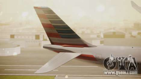 Airbus A330-300 American Airlines for GTA San Andreas back left view