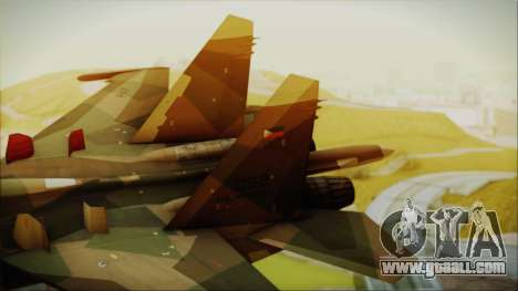 SU-27 Flanker A Philippine Air Force for GTA San Andreas back left view