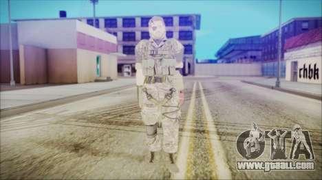 MGSV Phantom Pain Snake Normal Woodland for GTA San Andreas second screenshot