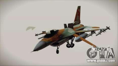 F-16C Block 25 Israeli Air Force for GTA San Andreas