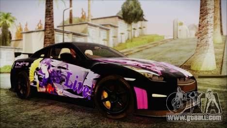 Nissan GT-R Nismo 2015 Itasha Paintjobs for GTA San Andreas