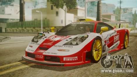 McLaren F1 GTR 1998 Lemans McLaren for GTA San Andreas