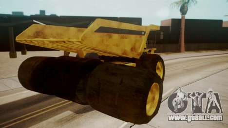Dump Truck for GTA San Andreas back left view