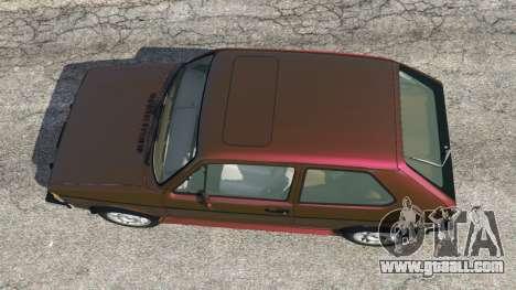 GTA 5 Volkswagen Rabbit 1986 v2.0 back view