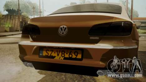 Volkswagen Passat CC for GTA San Andreas back view
