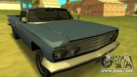 Voodoo El Camino v1 for GTA San Andreas back view