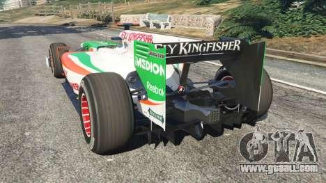 GTA 5 Force India VJM03 rear left side view