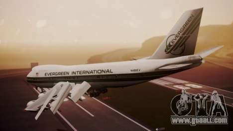 Boeing 747-200 Evergreen International Airlines for GTA San Andreas left view