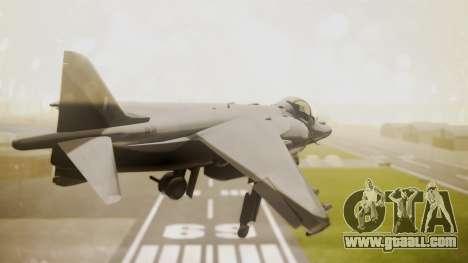 AV-8B Harrier Hellenic Air Force HAF for GTA San Andreas left view