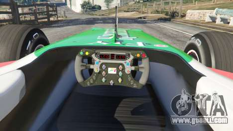 GTA 5 Force India VJM03 rear right side view