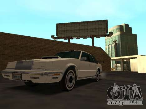 Chrysler New Yorker 1988 for GTA San Andreas bottom view