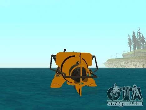 Submersible from GTA V for GTA San Andreas interior