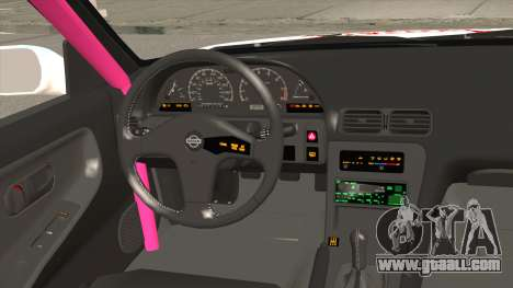 Nissan 240SX Pony Power for GTA San Andreas inner view