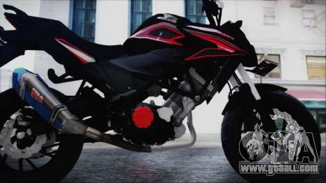 Honda CB150R Black for GTA San Andreas back view