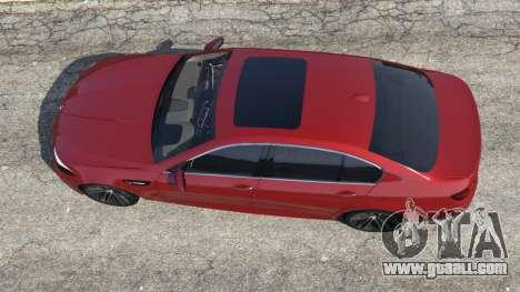 GTA 5 BMW 535i 2012 back view