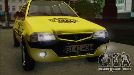 Dacia Solenza Taxi for GTA San Andreas right view