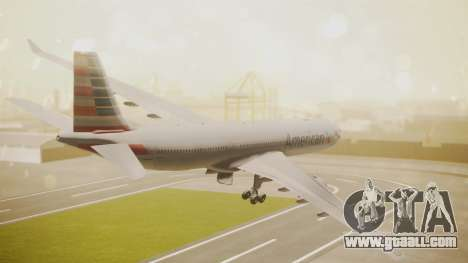 Airbus A330-300 American Airlines for GTA San Andreas left view