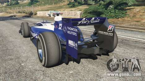 GTA 5 Williams FW32 rear left side view