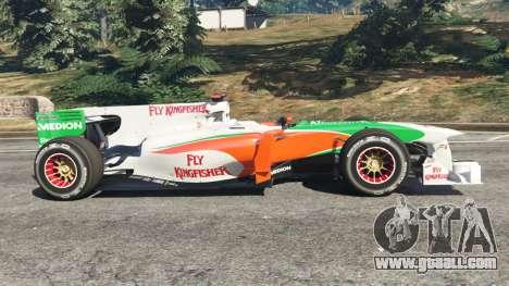 GTA 5 Force India VJM03 left side view
