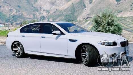 GTA 5 BMW M5 F10 2012 left side view
