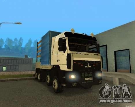 MAZ 6430 with a crane for GTA San Andreas