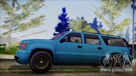 GTA 5 Declasse Granger FIB SUV IVF for GTA San Andreas back left view