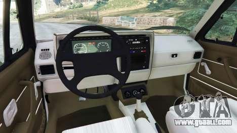 GTA 5 Volkswagen Rabbit 1986 v2.0 rear right side view