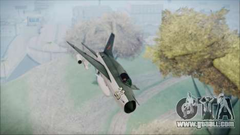 MIG-21MF URSS for GTA San Andreas right view