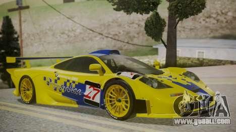McLaren F1 GTR 1998 Parabolica for GTA San Andreas