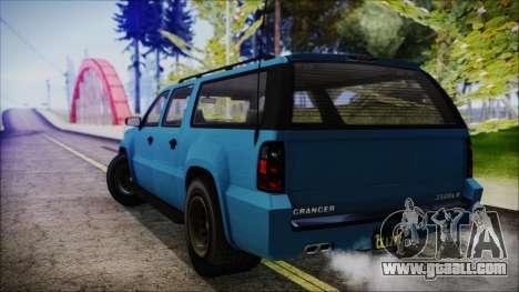 GTA 5 Declasse Granger FIB SUV IVF for GTA San Andreas left view