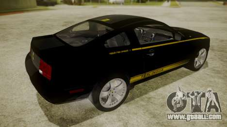Ford Mustang Shelby Terlingua for GTA San Andreas back left view